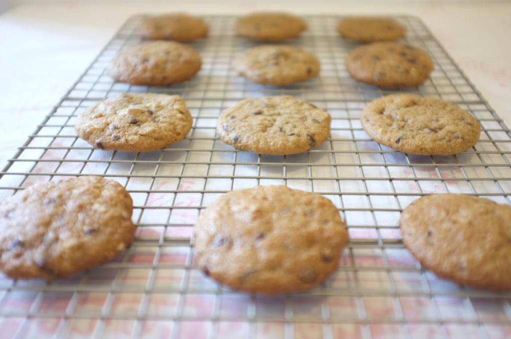 Les cookies sur la grille de refroidissement