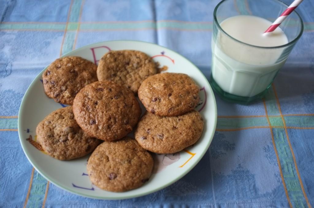 cookies sans gluten aux pépites de chocolat et noix de pécan