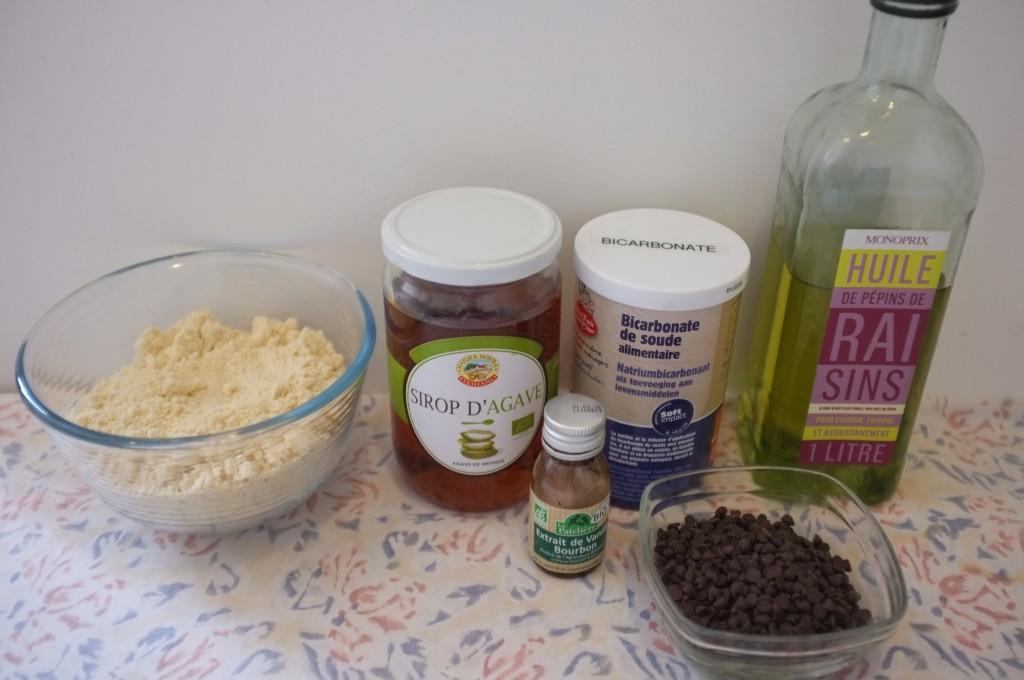 Ingrédients pour les cookies express