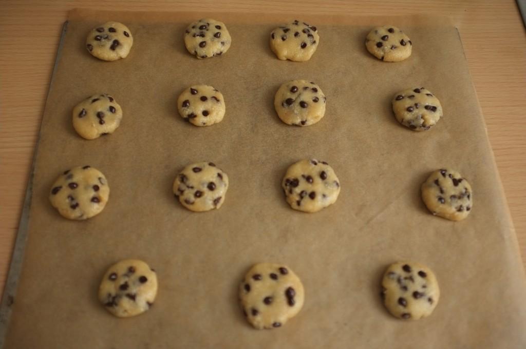 Les cookies avant d'être enfournés