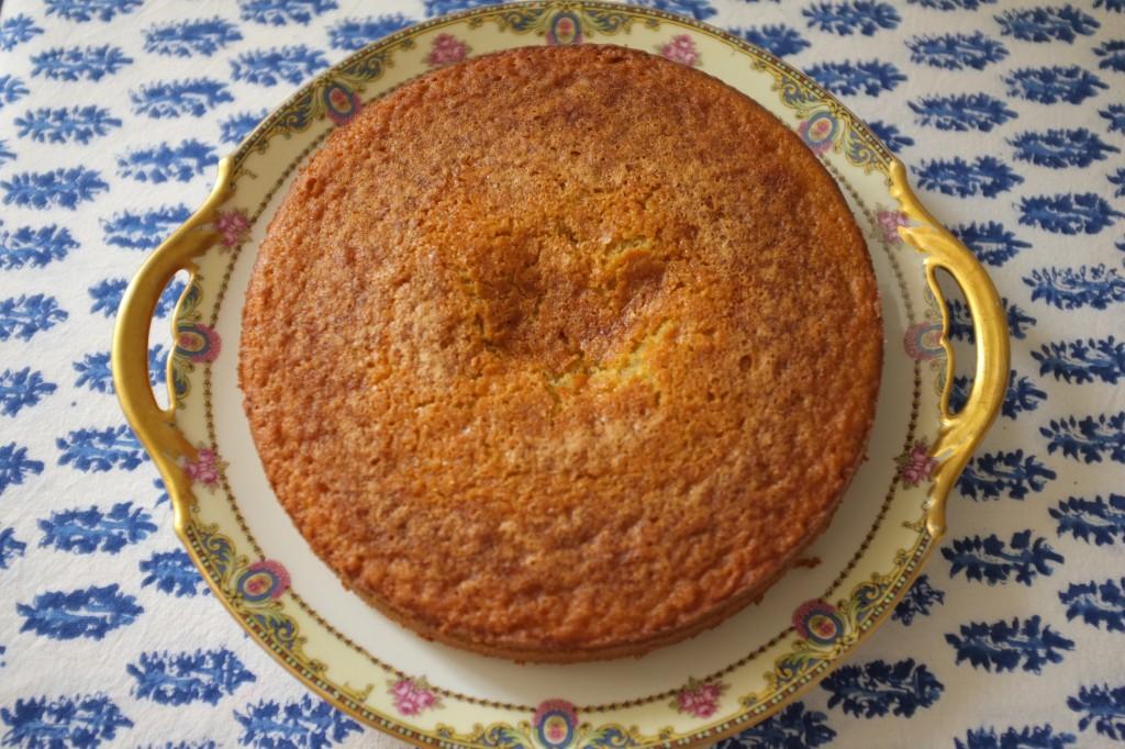 Le gâteau sans gluten au yaourt et au citron