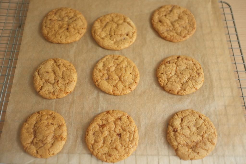 Les cookies au sirop  d'érable  à la sortie du four