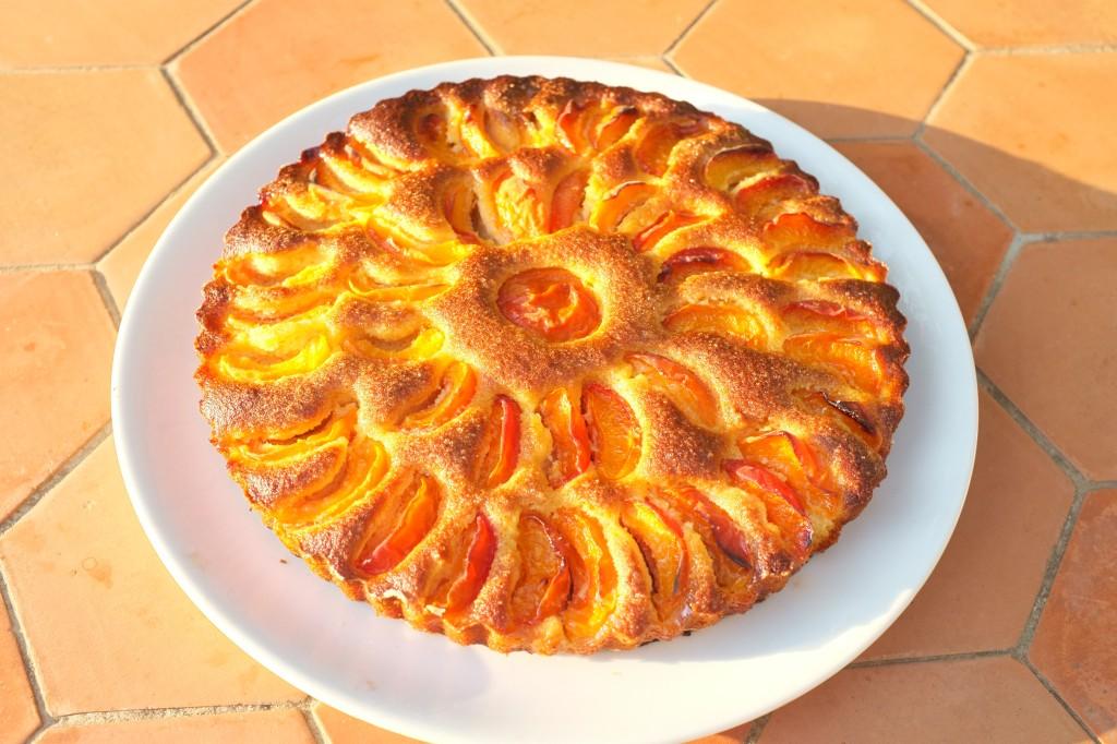 La tarte juste démoulée