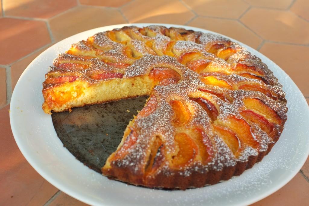 La tarte à l'abricot sans gluten