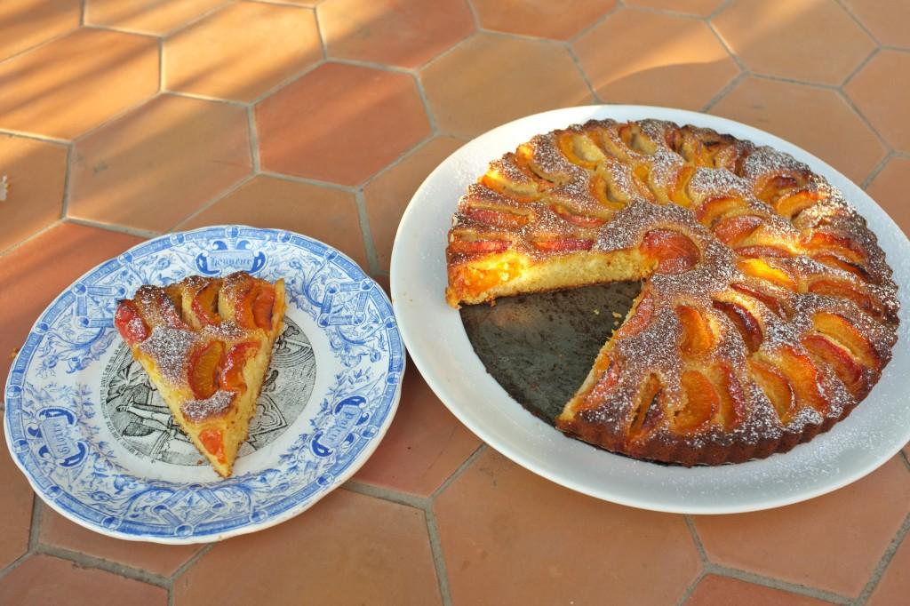 tarte sans gluten à l'abricot