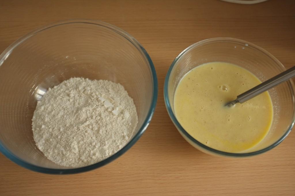 Les ingrédients secs et les ingrédients humides