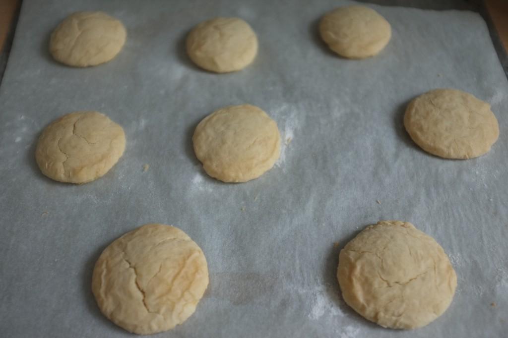 Le biscuits au sirop d'érable à la sortie du four