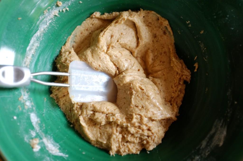 Le pâte sans gluten des muffins