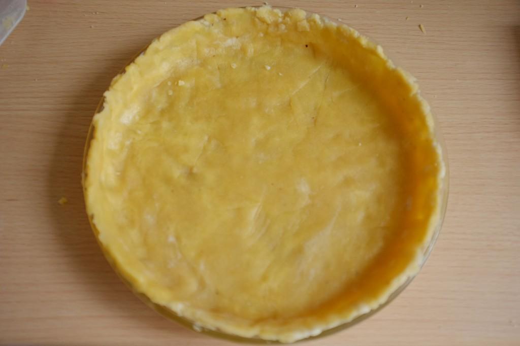 Le fond de tarte sans gluten avant cuisson