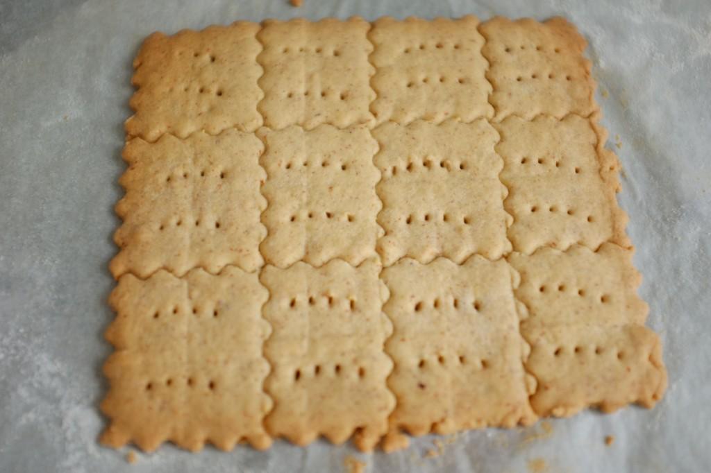 La plaque de biscuits sans gluten à la sortie du four