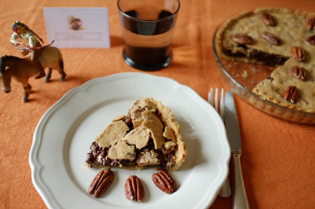 La tarte chocolat et noix de pécan pour Thanksgiving