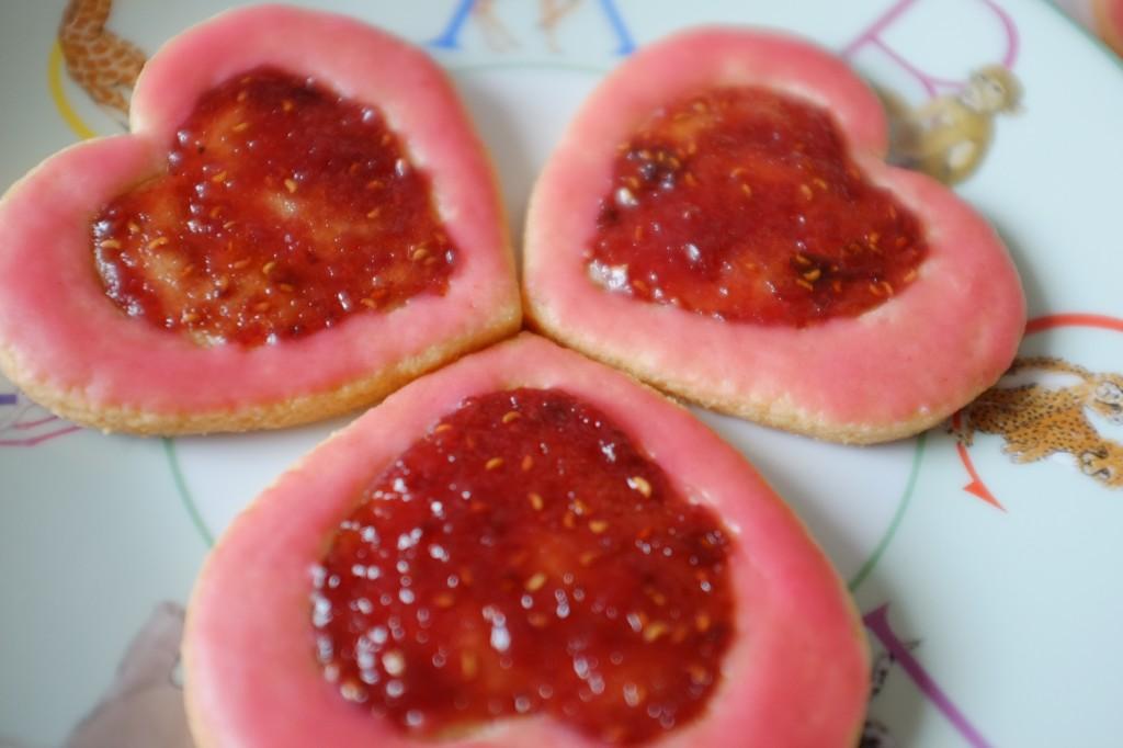 Les biscuits sans gluten litchi-framboise