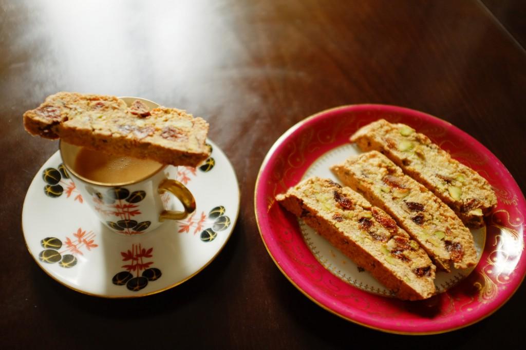 Les biscotti sans gluten abricot-pistache