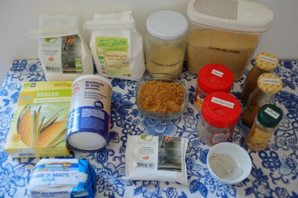 Les ingrédients sans gluten pour les biscuits Spéculoos