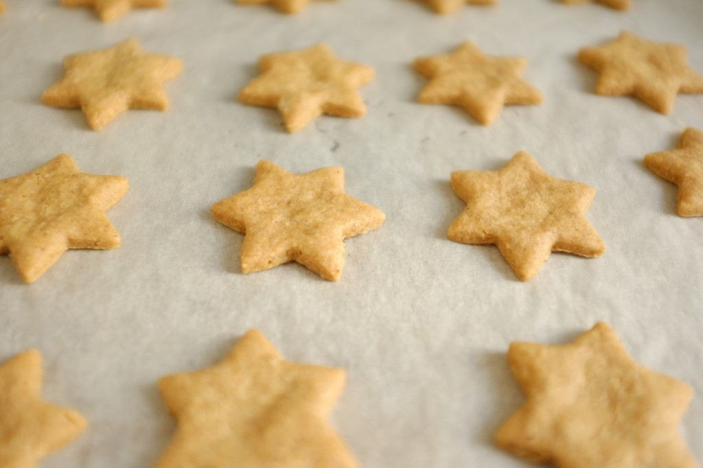 Les biscuits Spéculoos avant d'être enfournées
