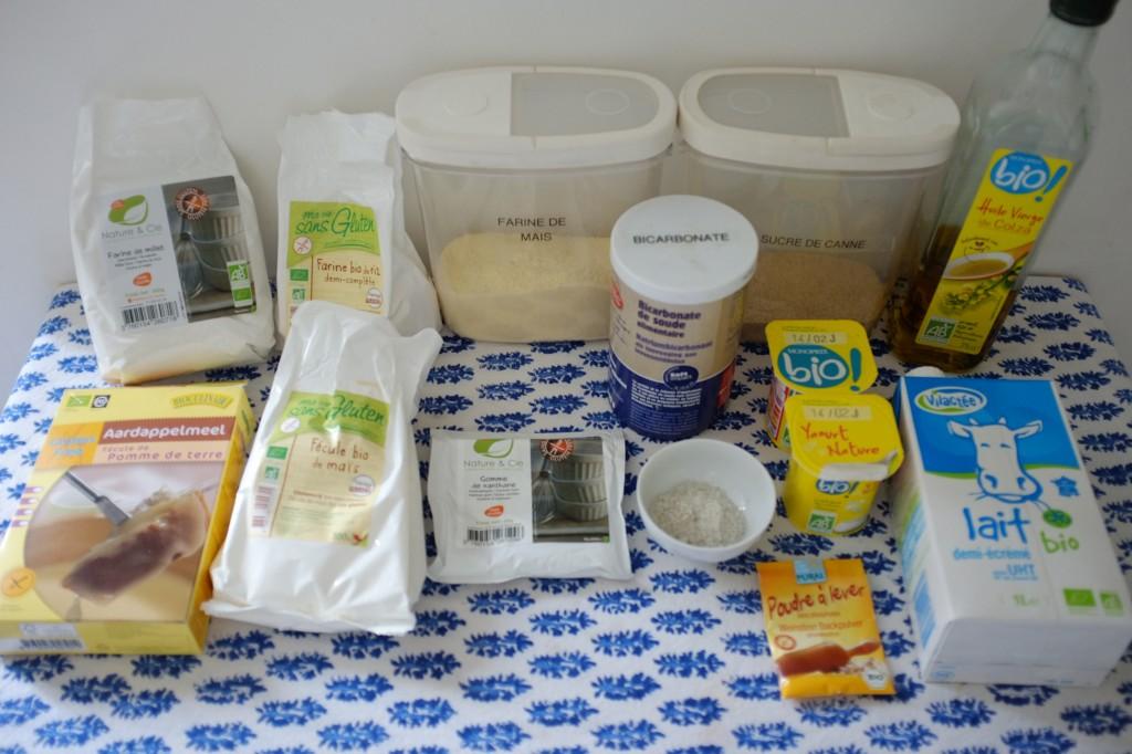 """Les ingrédients sans gluten pour les gaufres """"Belge"""""""