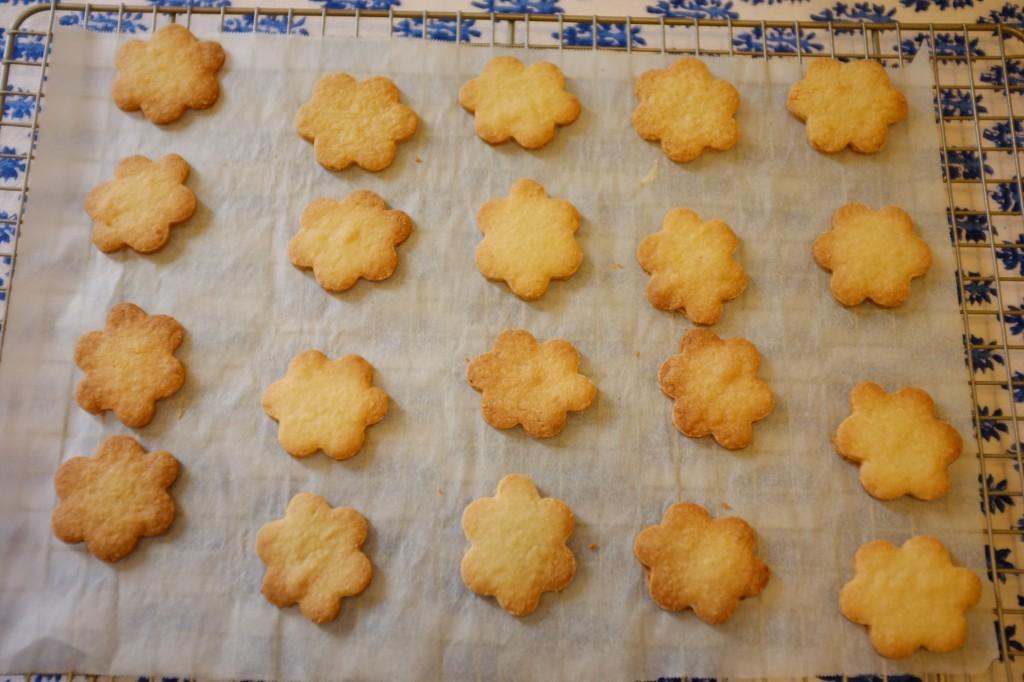 """Les biscuits sans gluten  """"marguerite"""" à la sortie du four"""