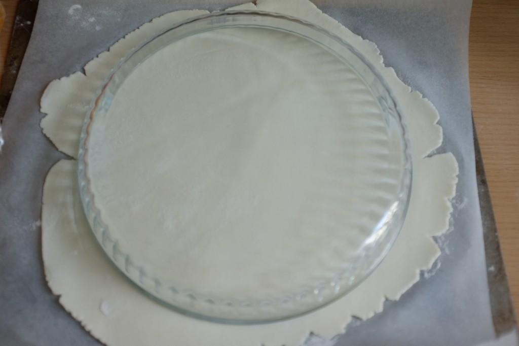 Je retourne un plat pour faire un beau cercle...