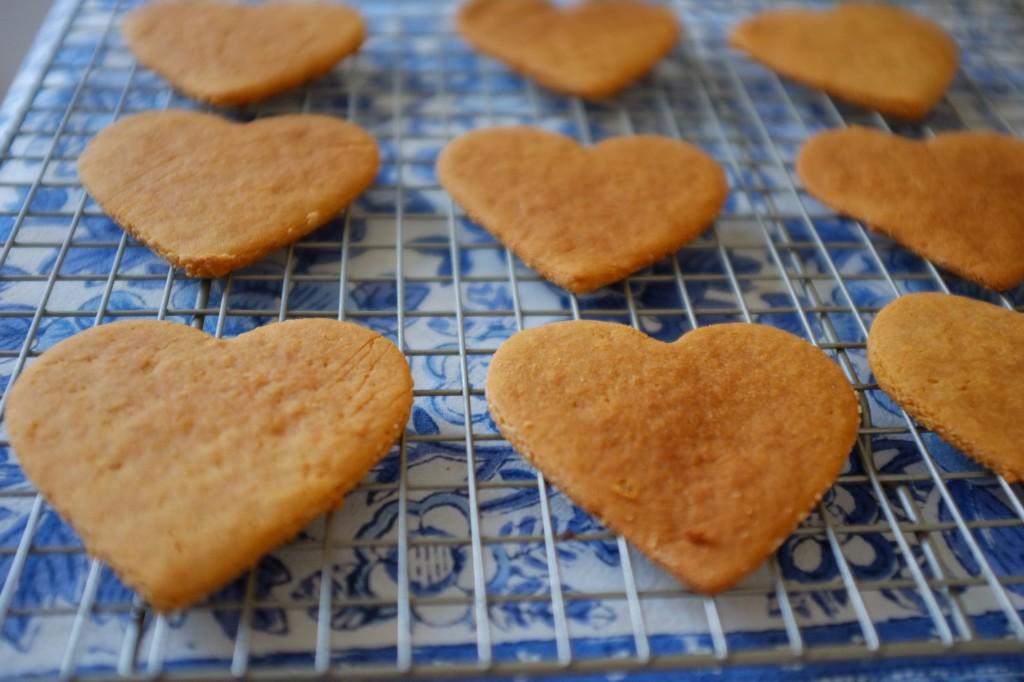 Les biscuits sans gluten à la farine de coco refroidissent sur la grille