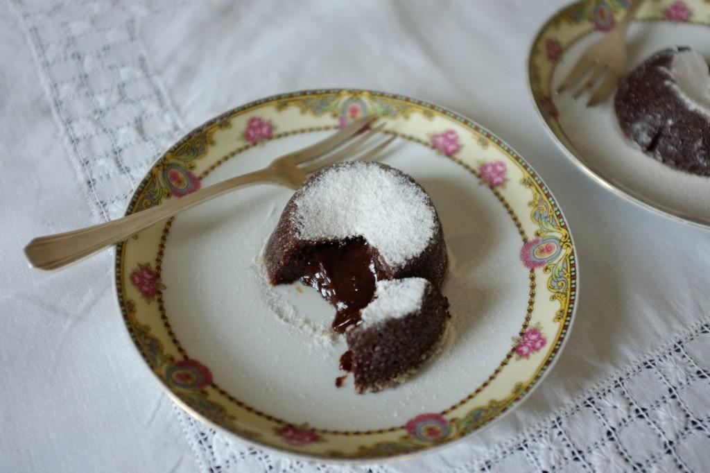 Le fondant sans gluten expresso-chocolat pour un dîner à deux