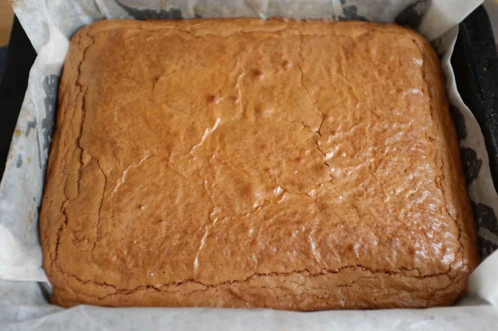 Le brownie chocolat sans gluten à la sortie du four