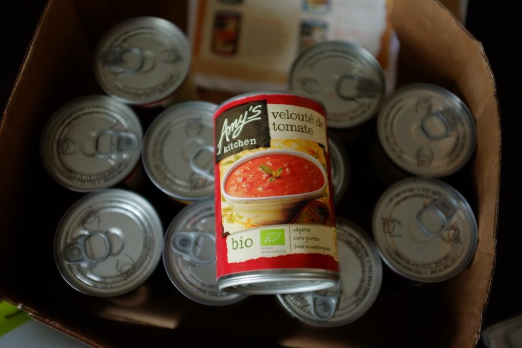 Le paquet d'Amy's Kitchen: chouette, il y a dedans ma soupe favorite !
