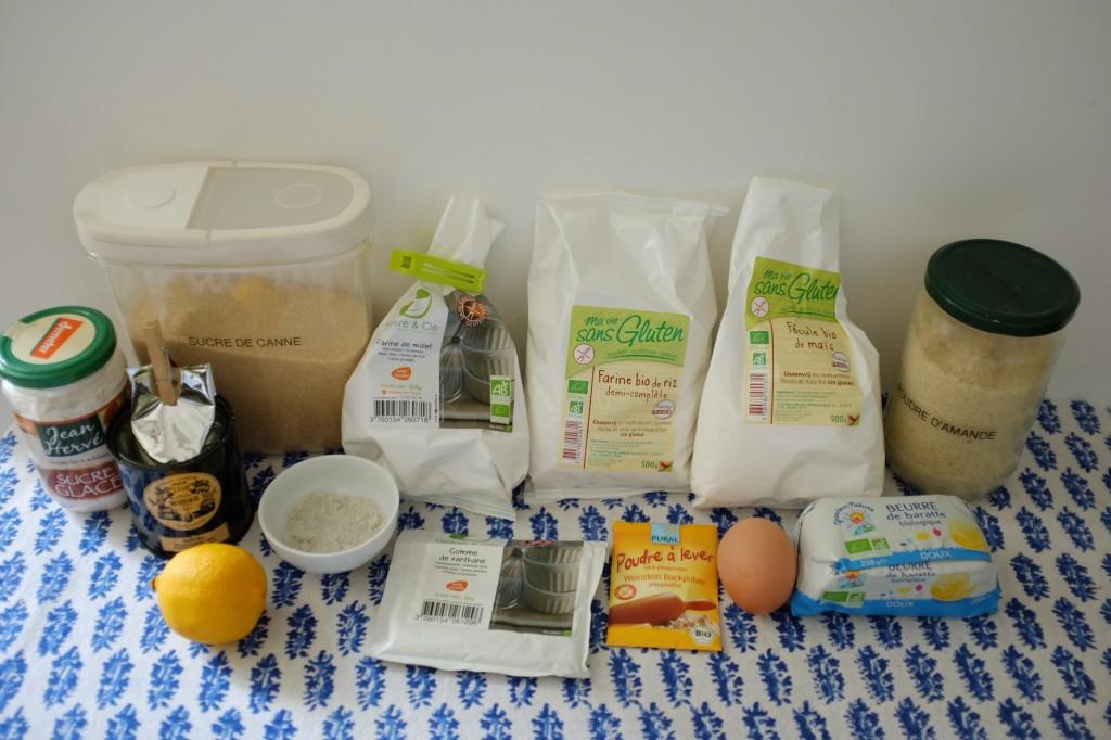 Les ingrédients sans gluten pour les biscuits trèfles pour la St Patrick