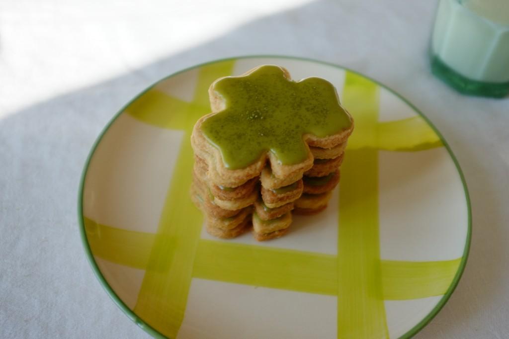 Les biscuits trèfle Irlandais sans gluten pour porter bonheur à la St Patrick