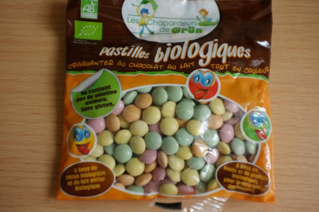 Ces pastilles au chocolat colorées sont biologique et sans gluten