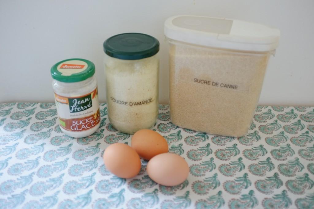 Les ingrédients sans gluten pour les macarons