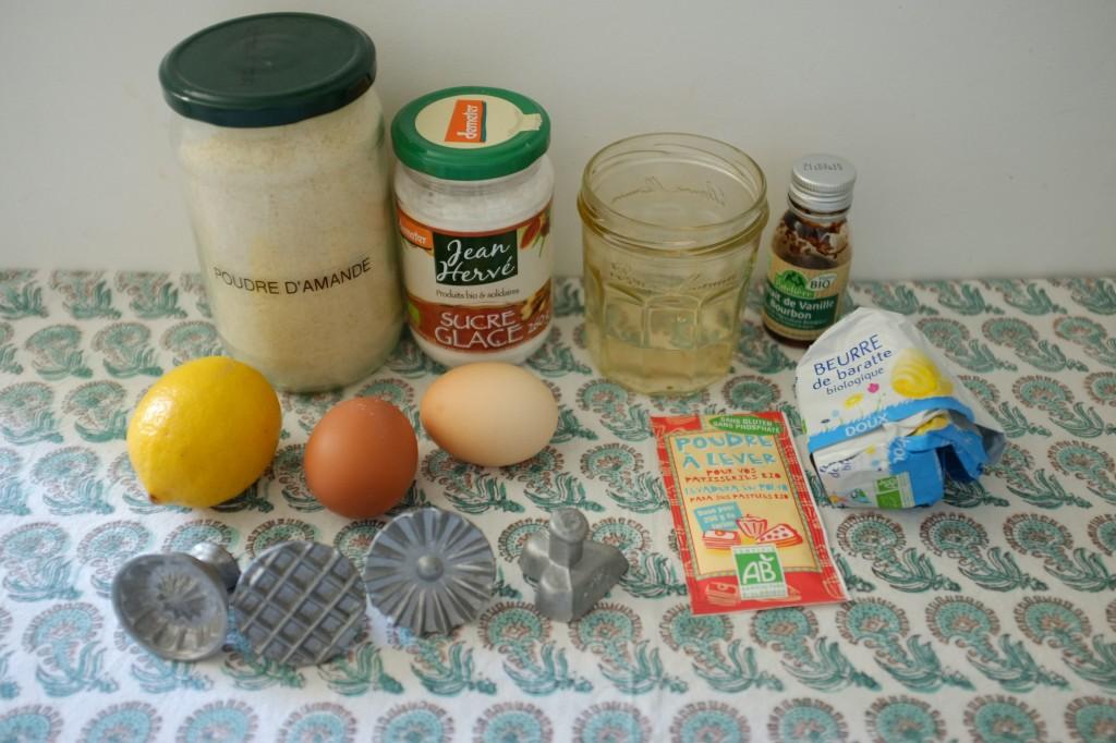 Les ingrédients sans gluten pour les gâteaux marocains Ghriba