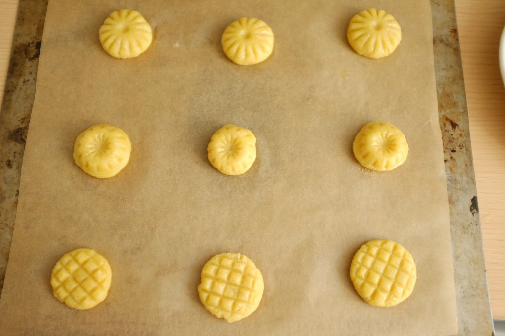 Les gâteaux sans gluten Ghriba avant d'être enfournés