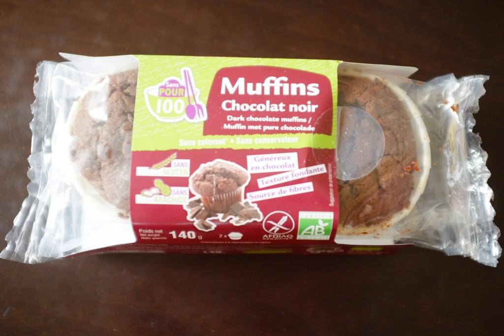 Les muffins aux pépites de chocolat noir, certifié sans gluten et sans arachide