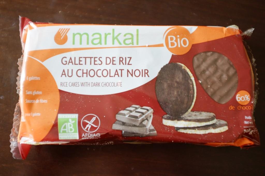 Les galettes de ris au chocolat noir, certifié sans gluten