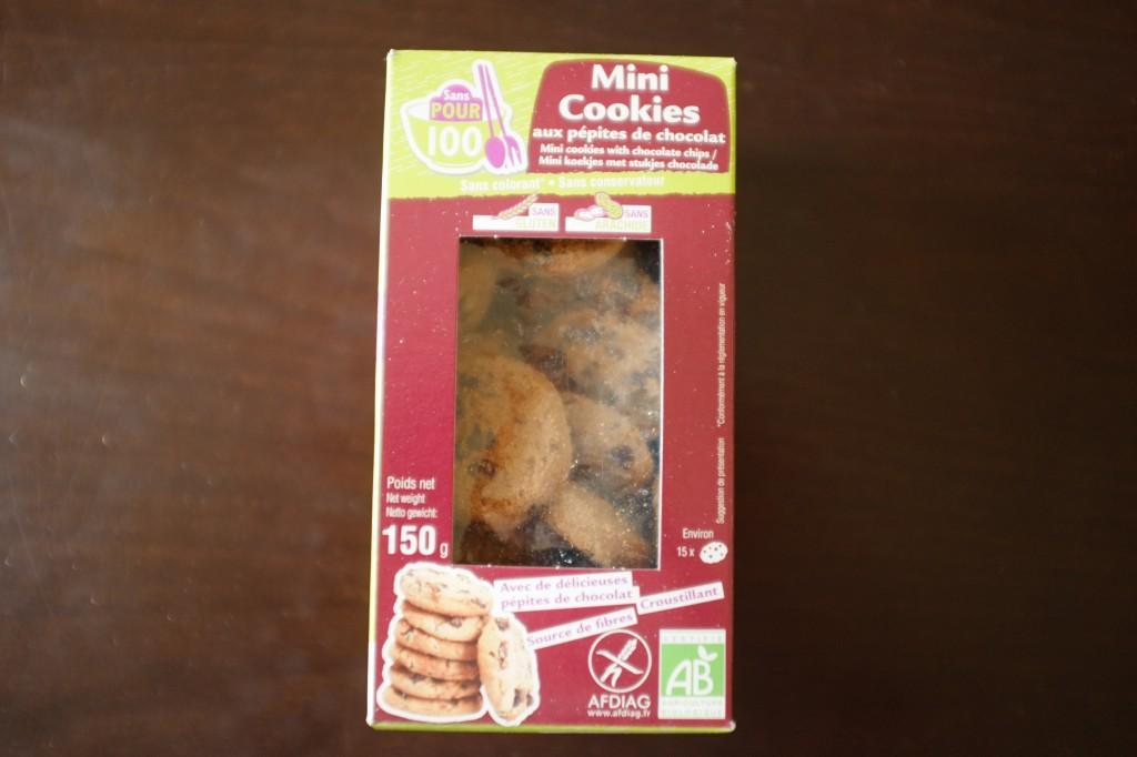 Les mini cookies, certifié sans gkuten et sans arachide