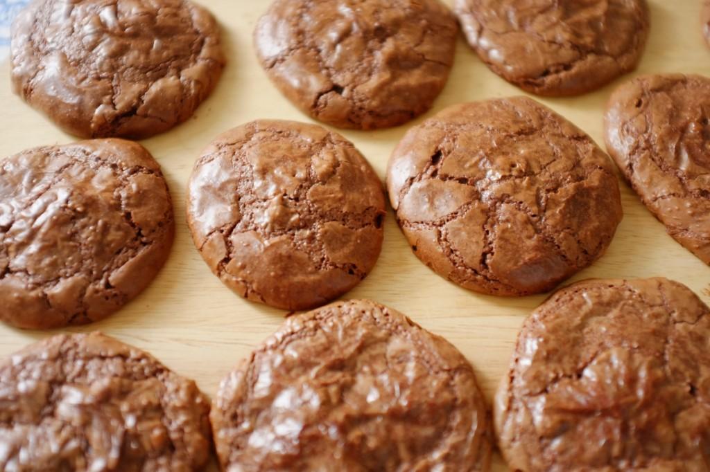 Les cookie-brownie sans gluten au chocolat