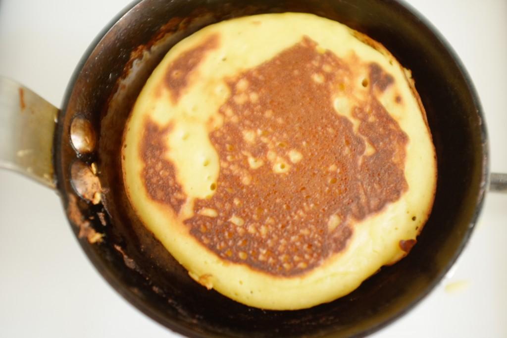 le pancake sans gluten côté verso