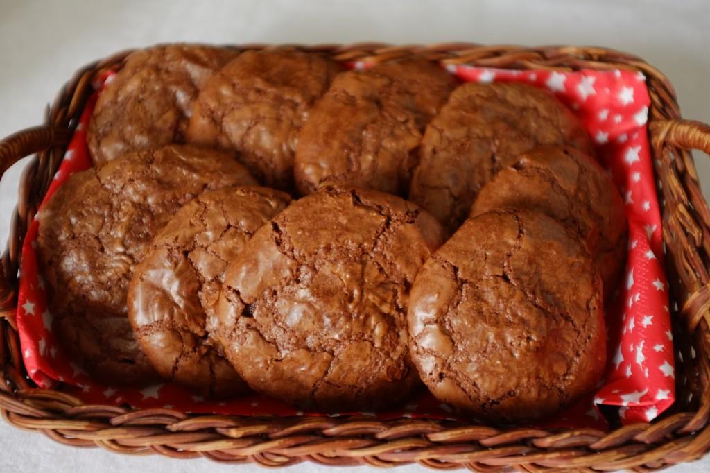 Les cookies-brownie sans gluten au chocolat