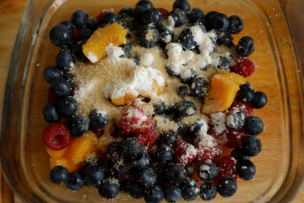Les fruits sont saupoudrés de fécule de maïs
