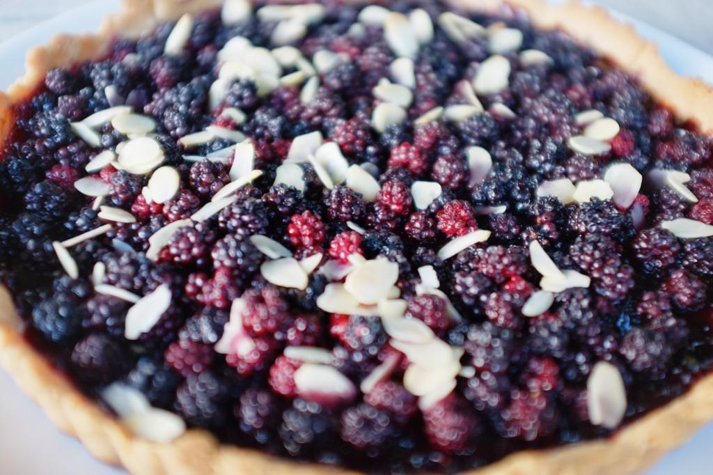 La tarte sans gluten aux mûres sauvages