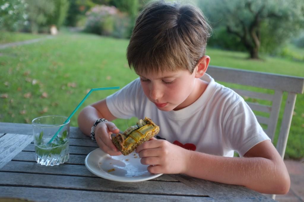 la tarte sans gluten courgette et poireau pour notre apéritif dînatoire en Provence