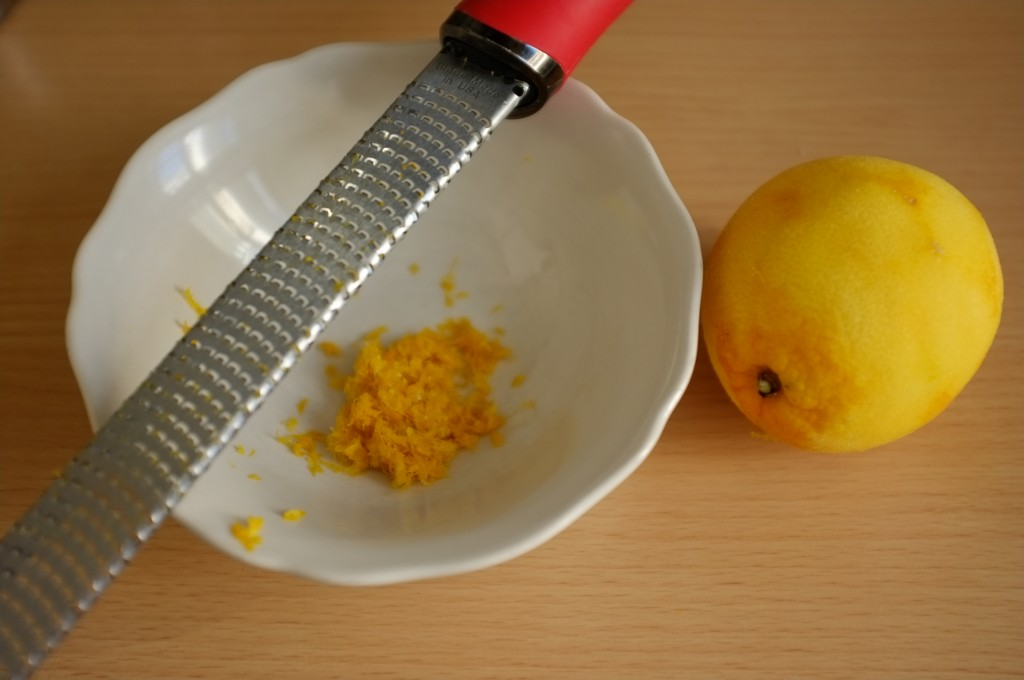 Le zeste d'une orange Bio