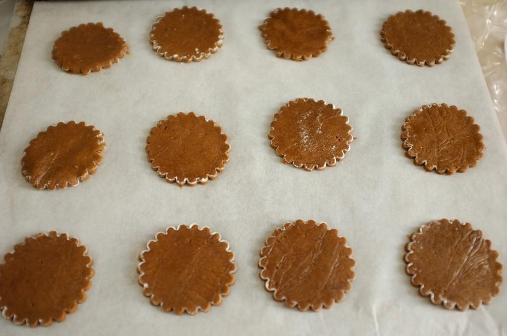 Les biscuits sans gluten orange-cannelle avant d'être enfournés