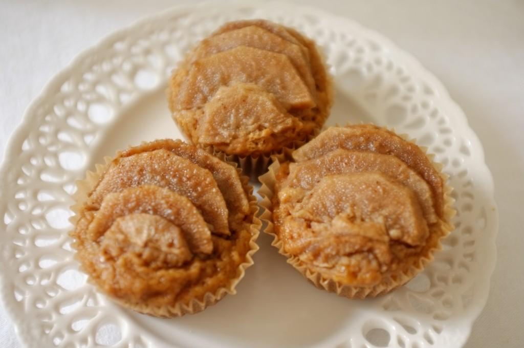 Les muffins sans gluten poire et citron pour le petit déjeuner