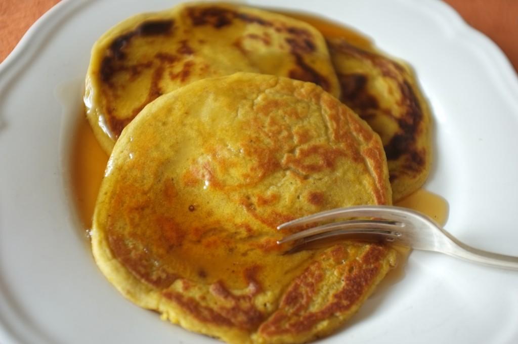 les pancakes sans gluten au potiron pour notre petit déjeuner