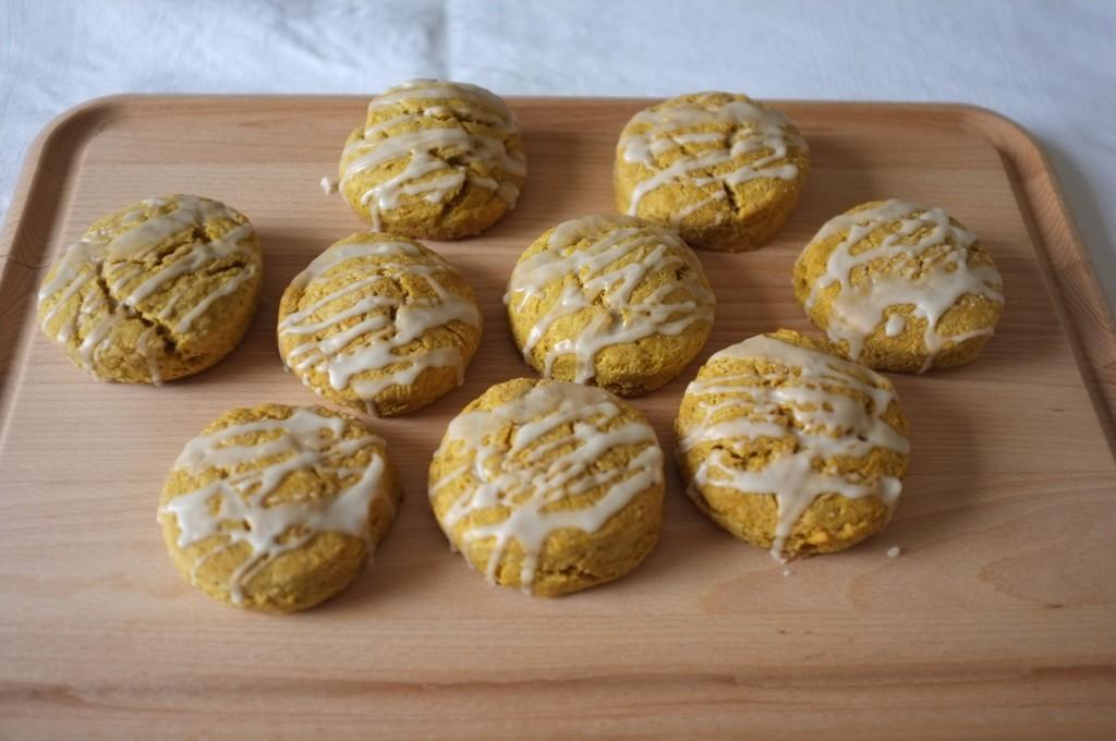 Les scones sans gluten au potiron et sirop d'érable