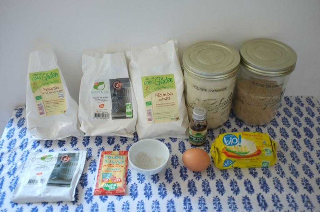 Les ingrédients sans gluten pour les biscuits Rudolphe