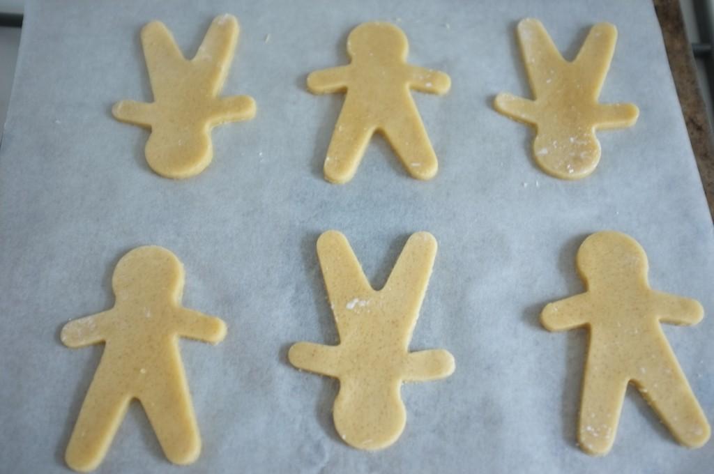 Les biscuits Rudoplhe avant d'être enfournés