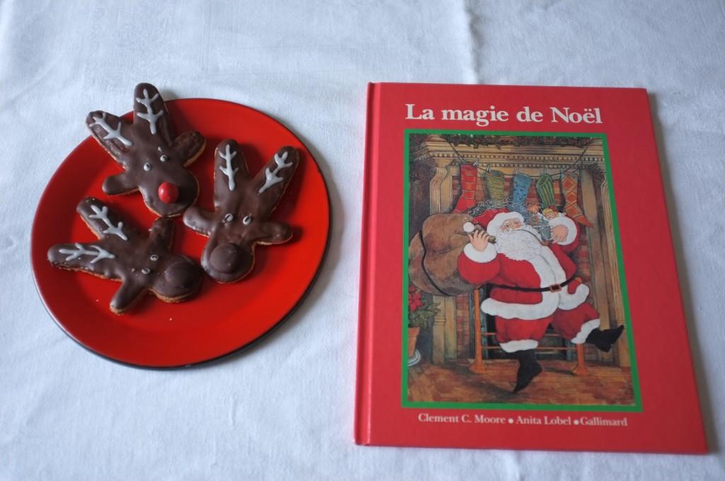 Les biscuits sans gluten Rudolphe pour lire un des plus ancien et joli conte de Noël