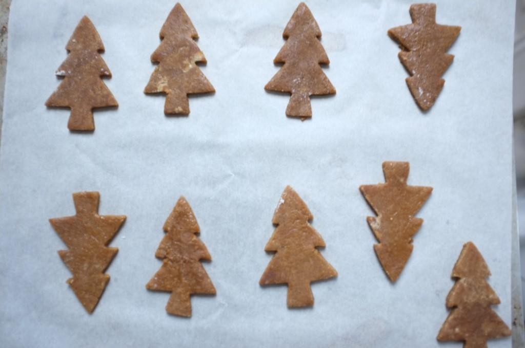 Les biscuits sans gluten sain aux épices avant d'être enfournés
